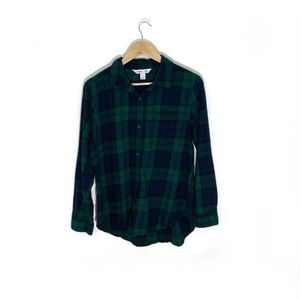 Old Navy | Green & Blue Plaid Classic Flannel